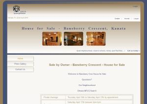 House for Sale by Owner -  website design by SynergicWebs