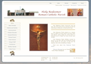 HR Parish Community -  website design by SynergicWebs